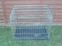 DOG CAGE MEDIUM WITH TRAY £18 WITHOUT TRAY £15