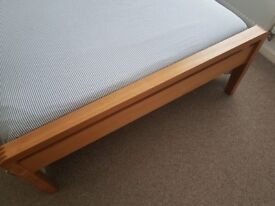 Bed + Matress+ Bedside table