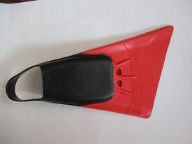Alder Rocket Bodyboard Fins (Size XL - UK 9/10 with 3 mm swim sock)