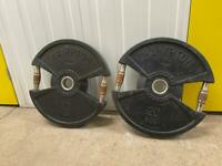 2 x 20kg black plates with handles