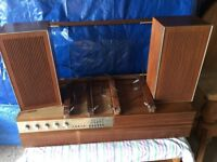 Ferguson Radiogram with speakers. In need of some refurbishment or to be used for spare parts