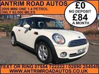 2009 MINI ONE 1,4 PETROL ** 82,000 MILES ** FINANCE AVAILABLE WITH NO DEPOSIT **
