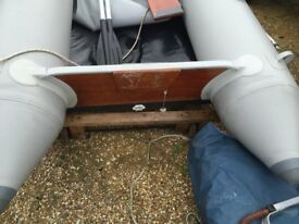 Small inflatable boat with 5 HP Honda outboard, ready to go, all working, with accessories
