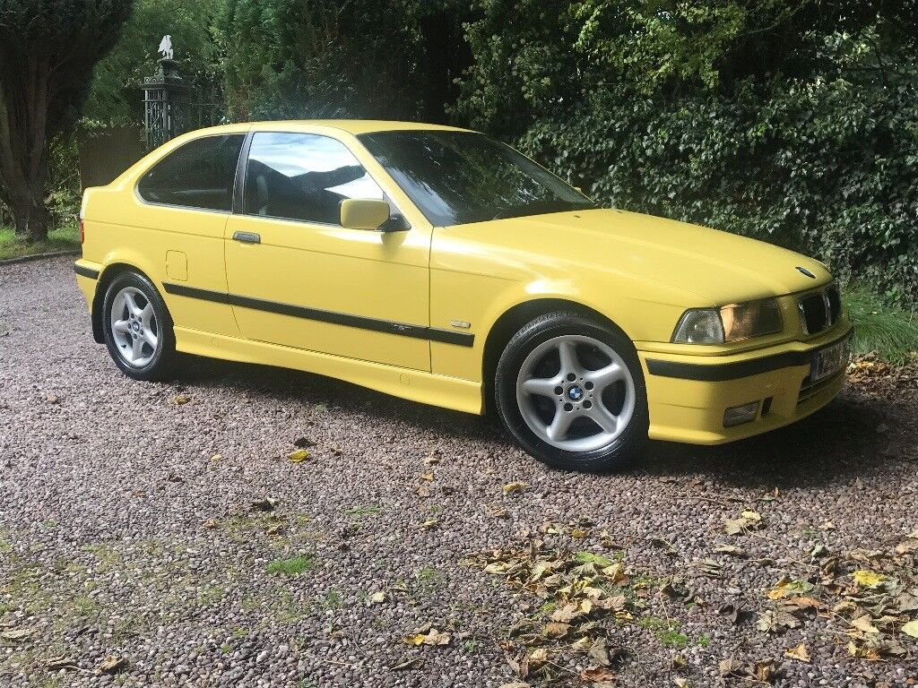 2000 bmw e36 318ti compact m sport dakar yellow 78k in. Black Bedroom Furniture Sets. Home Design Ideas