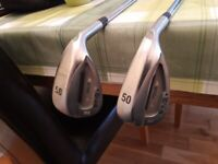 2 Ping Tour W wedges with senior steel shafts