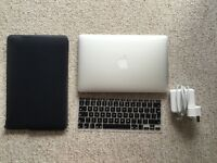 Apple MacBook Air 5,1 (11-inch Mid 2012) A1465 w/ software bundle, British keyboard skin, charger
