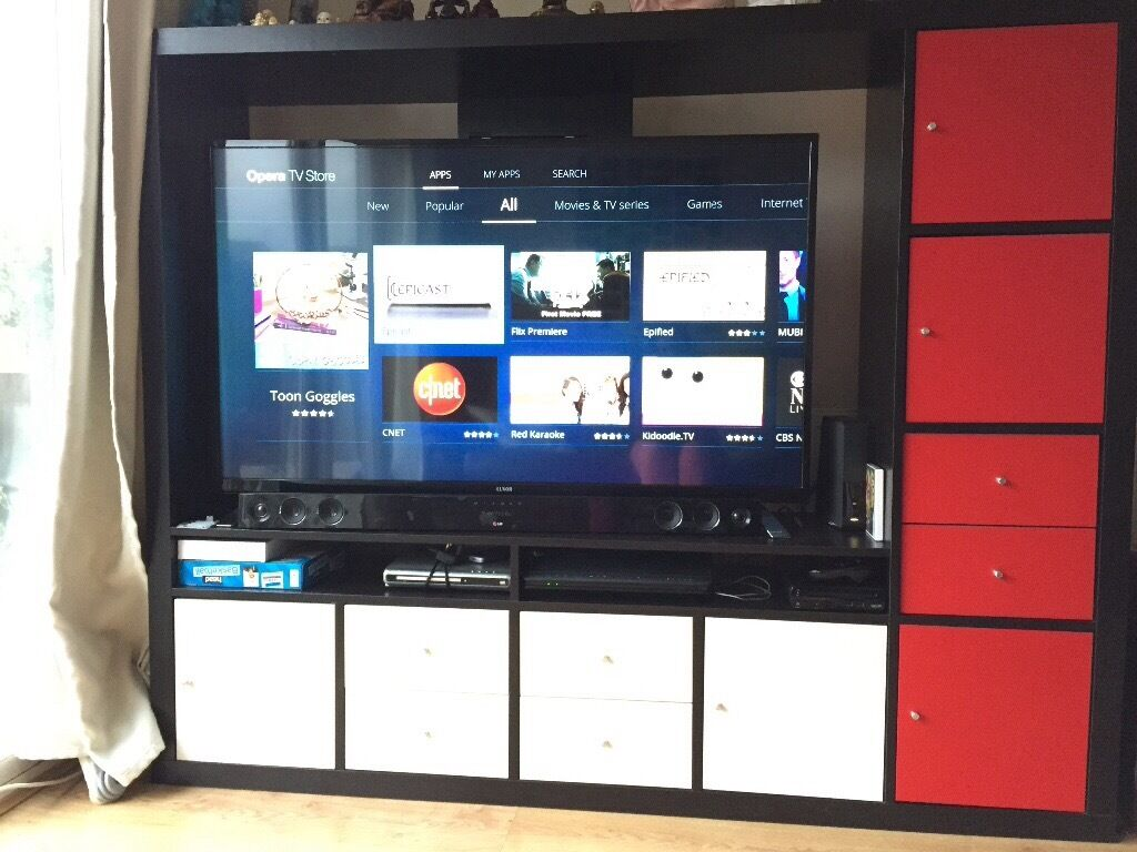 Ikea Lappland Tv Unit With Kallax Inserts In Shropshire Gumtree # Meuble Tv Kaorka Ikea