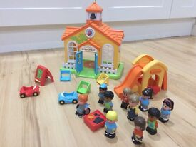 Happyland Preschool with characters