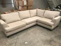 Brand new high quality beige corner sofa from Marks and Spencer's