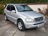2002 Mercedes ML 320 superb car thoughout, loaded with extras, stunning!!!