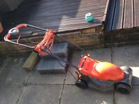 Small flymo lawn mower - works fine but worth getting a new blade