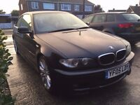 BMW 320CD Sport Coupe - 3 door - Black - 2005 (05) - MOT Aug 17 - 98200 miles - £2955