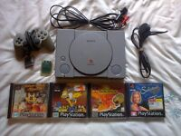 Sony PS1 Console WIth Games