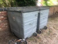 FREE STEEL RUBBISH CONTAINERS