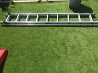 Double extension ladders 2.5m extend 4.6m