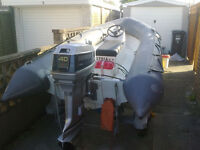 RIB - Avon Searider 4M. Engine and trailer.