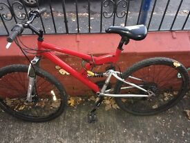 Sober fox mountain bike in great condition was only used for first year 18 gears kept in the houses
