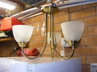 For Sale a Brushed gold 3 bulb ceiling light fitting