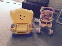 Learning chair and walker/first pushchair with doll