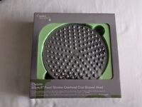 20cm/8in round rain shower head, chrome effect, BNIB