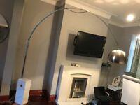 Designer Large Marble Base Hanging Floor Lamp