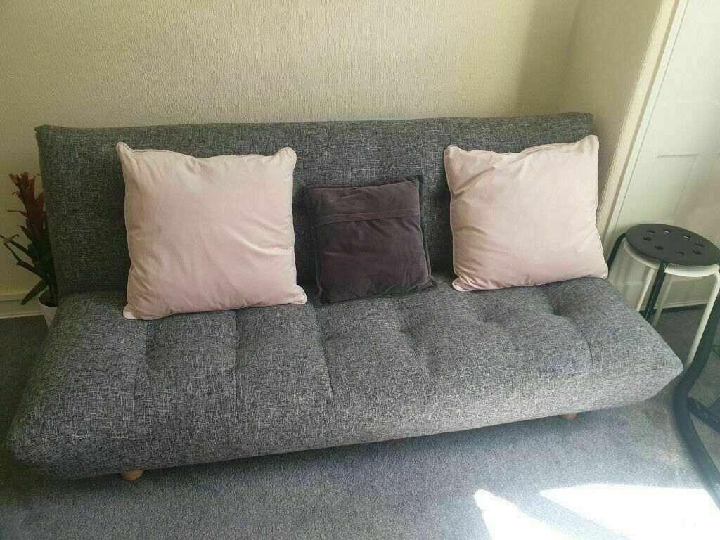 HABITAT Kota 3 Seater Sofa BedFabric (Click Clack) Black and white | in Camberwell, London | Gumtree