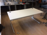 White Office desks by Techo in two sizes 1200mm & 1600mm-super quality!!!