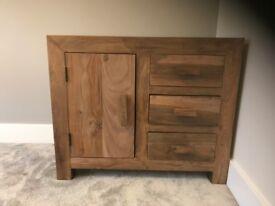 Solid Sheesham Wood Small Sideboard