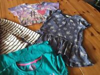 6 girls tshirts - 10 years - next, George etc