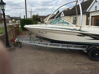 Boat for sale. Sea Ray 180 Bow Rider. On trailer. Includes Monster Wake Board Tower.