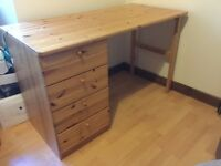 2 Ikea wooden desks with 4 drawers for sale, would suit your a student or teenager.