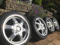 AZEV K 16x7.5 4x98/4x100 ALLOY WHEELS VW LUPO MK1 GOLF FIAT 500