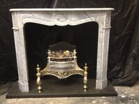 Antique French Marble Fireplace Surround.