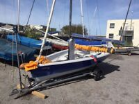 Laser 2000 Sailing Dinghy, launch trolley and road trailer SOLD subject to payment & pickup