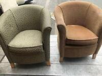 Fabric Tub Chairs