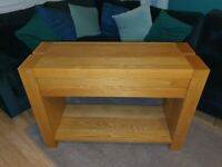 Solid Oak Console Table with Drawer
