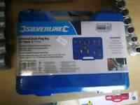Universal drain plug key set 12pc
