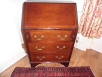 Antique 3-Drawer Mahogany Bureau
