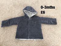 0-3 months baby boy jacket