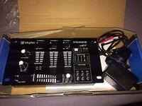 Skytec 4 Channel Music Mixer USB MP3 DJ