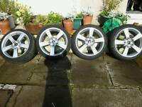 Mitsubishi 18 inch alloys and tyres