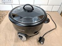 Crock Pot non-stick rice cooker in black