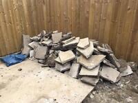 Rubble / broken concrete slabs