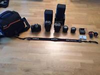 The Ultimate Photography and Video bundle- Canon 600D DSLR with 4 lenses and accessories