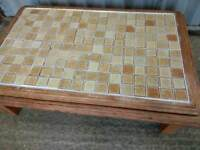 Large Pine Tiled Coffee table