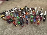 Thomas the tank engine trains. Over 40 in total