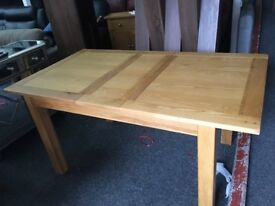 Harvey's New/Ex Display Brookes Extending Dining Table Solid Oak