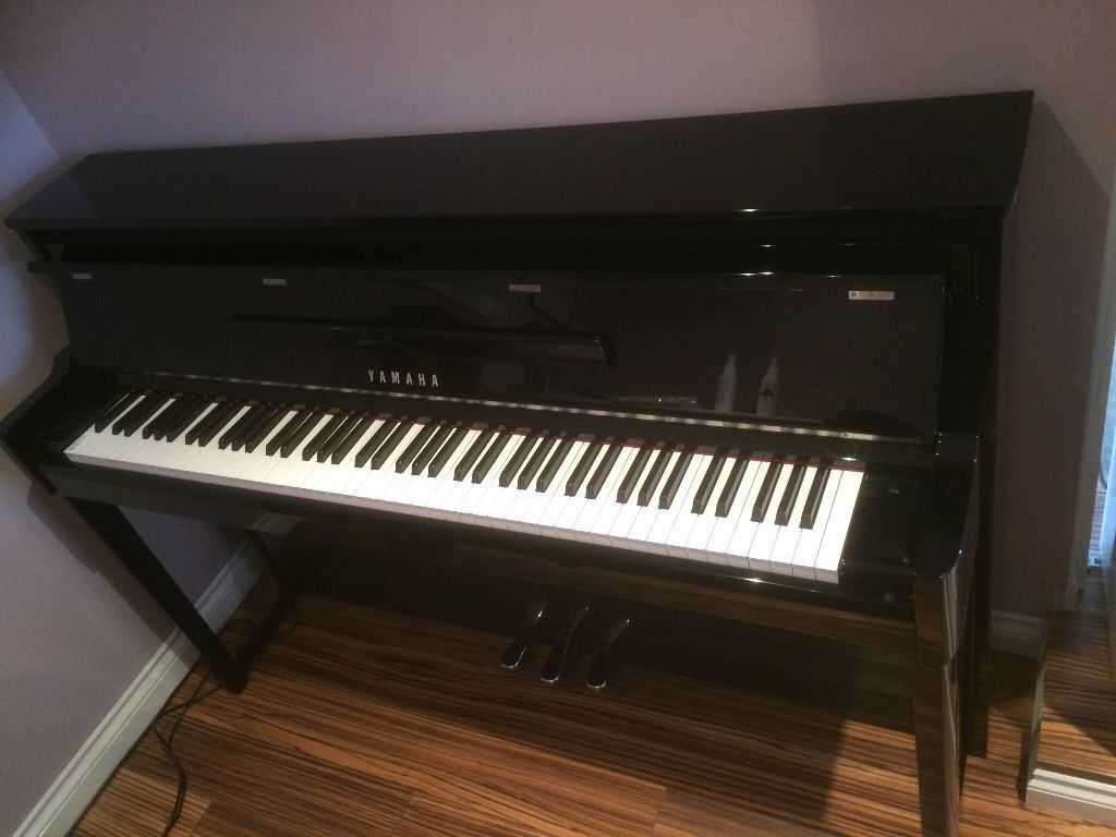 yamaha nu1 digital hybrid piano bench polished ebony. Black Bedroom Furniture Sets. Home Design Ideas