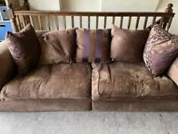 Large 3 seat sofa with cushions