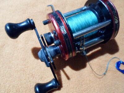 1985 Abu Garcia Ambassadeur 6000 with added spool bearing w/new 40lb. Braid